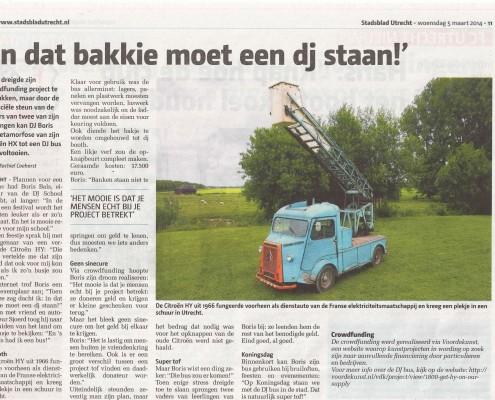 dj school utrecht in de krant van Utrecht woensdag 5 maart 2014
