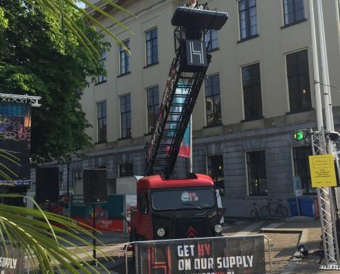 banner op dranghek van dj auto gethy.nl