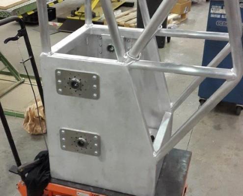 fabriekshal met alu constructie
